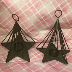 Other - ❣️MEGASALE❣️🕯3PC. STAR TEA LITE CANDLE HOLDERS🕯